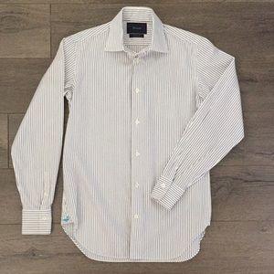 Faconnable Men's Multi-Color Pinstripe Dress Shirt